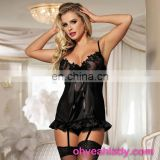 Seven sizes black women new sexy nighty design in stock