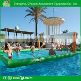 outdoor playground inflatable water volleyball court beach volley ball