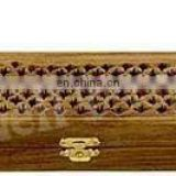 WOODEN COFFIN INCENSE STICK STORAGE BOX