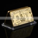 WR One Million 24k Bill Note Gold Bar Quality 999.9 Gold Banknote Metal Bars with Plastic Case for Souvenir Gifts