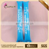 New 2015 simple logo printing blue color inflatable cheering thunder sticks hand clapper noise maker