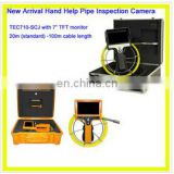 Portable video pipe inspection camera with low cost TEC-Z710-SCJ
