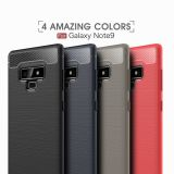 Carbon Fiber Phone Skins For Samsung Galaxy Note 9 Cover Soft TPU Cases Note9
