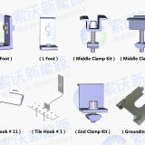 solar energy mounting ,rail, clamp,Top 10 Chinese Brand Mounting Structure
