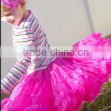 Wholesale Baby Girl Chirstmas Soft Chiffon Dance Dresses Party red green white Tutu Ruffle Party Fluffy PettiSkirts