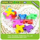 3D Magic Cube Shaped Fancy Erasers For Kids, Promotional Gifts