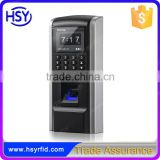 HSY-F801 New Style 1800 Cards 1800 Fingerprint Wiegand Output ARM9 P0latform Door Access Control and Time Attendance