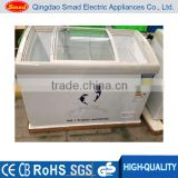 commercial curved sliding glass door ice cream freezer display                                                                                                         Supplier's Choice