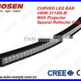 bowed curved 240W cree strob LED Light Bar off road heavy duty, indoor, factory,suv military,agriculture,marine,mining light