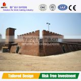 low cost fired clay brick kiln
