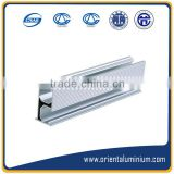Anodised aluminum extrusion profile to make door.