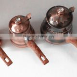 CCBC-005 2014 hot selling set of 3pcs stainless steel coffee pot warmer with copper color