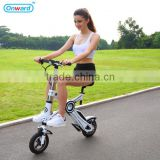 2016 New E-bike! 36V lightest and laborsaving Li-ion battery quick folding portable 11kg electric wheel hub motor bike