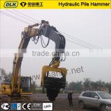 High quality excavator mounted Hydraulic Impact Vibrating Pile Driver for 20 ton excavator