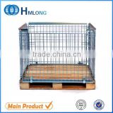 Euro foldable stackable storage metal steel wire mesh pallet cage