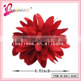Customized designs factory professional produce fabric flower fancy girls hair clips (XH11-8449)