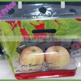 Wholesale Cusomer Order Transparent Eight Edges Sealing Stand Up Zip Lock Fruit Bag with Air Holes