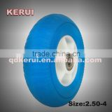 super quality 5 inch pu foam wheel rubber wheel 5 inch flat free wheel                                                                         Quality Choice