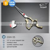 ICOOL GSH-55 high quality beauty special handle hair cutting shears