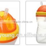 children products kid bottle no spill traing soft cup baby nursing drinking cup sippy cup with straw