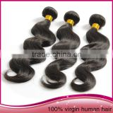 Wholesale Unprocessed Brazilian Human Hair Tangle Free Natural Color Body Wave Hair Extension
