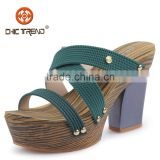 2015 high heels sandals fashion design melissa shoes cheap pvc shoes wood outsole ladies sandals