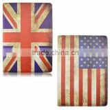 Cheaper UK USA Flag Design 360 Degree Rotating Flip Leather Stand Wallet Leather With Card Slots For iPad Mini 1 2 3 TB-0324