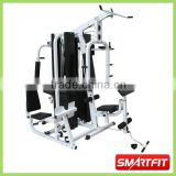 directly factory price customized multi functional 4 Station Home Gym with biceps bench and double 100 lb weight stacks