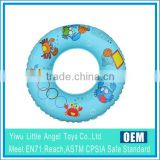 PVC Inflatable Kids Olympic Blue Sea Animal design swimming pool life ring buoy