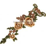 multi color polyester lace applique collar