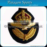 Embroidered Handmade Bullion Wire Cap Badge