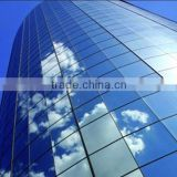 Blue Glass Frameless Unitized Curtain Wall