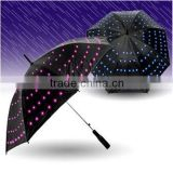 All over the sky star light rods umbrella LED straight bone umbrella                                                                         Quality Choice