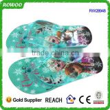 good quality factory price Frozen photo print insole girls beautiful girl nude beach frozen flip flops