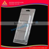 Finished good Paper Card Inserts Clear PVC Clamshell Packaging Box
