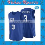 2015 Sport custom basketball jersey color blue