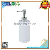 white manual Home Cheapest hand bathroom accessories liquid plastic soap dispenser with chrom pump