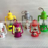 Snow Globe with Christmas Series Design Lanterns Shaped with Rubber Rope Holder, Garden Home Polyresin Decoration