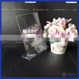 2016 Wholesale Custom 8.5 x 11 Acrylic Sign Holder Frames / Cclear Acrylic L-shape Desk Sign Holder