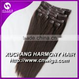 Usual Stock virgin clip in hair extensions/clip in virgin hair extension/peruvian virgin remy clip in hair extension