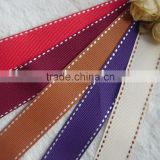 100% Polyester decoration Woven Dot Ribbon custom printed ribbon