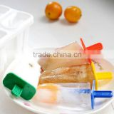 Hot Sale!! DIY Ice Lolly Mold Maker Ice Pole Freezer Tray 4 Cell Ice Cream Pop Mold Popsicle Maker