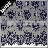 Lace guipure plum eyelash design black 3M wideth 100% nylon black embroidery guipure lace fabric trim skirts design 5915