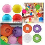 Wholesale hot sale lampion cheap 6 inch chinese round paper lantern