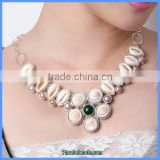 Wholesale Fashion Shell Statement Precious Gemstone Necklaces GN-N022