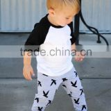 Children clothing toddler boy 2pc outfit t shirt harem pants sets knit jersey cotton clothes
