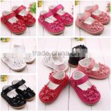 quality baby shoes with imitation diamonds adorable flower sandals rubber baby shoes baby toddler shoes                                                                         Quality Choice