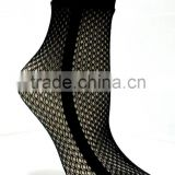 sheer black sexy women net ankle socks