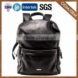 Factory Direct Sales Top Sale Custom Fashion Superior Quality Leather Backpack Black