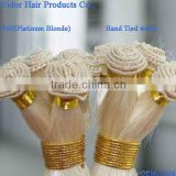 Factory Wholesale OEM,ODM 18inches #60 Platinum Blonde Straight white hair extension weft Hand-Tied Wefts
